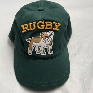 Janie and Jack green rugby hat